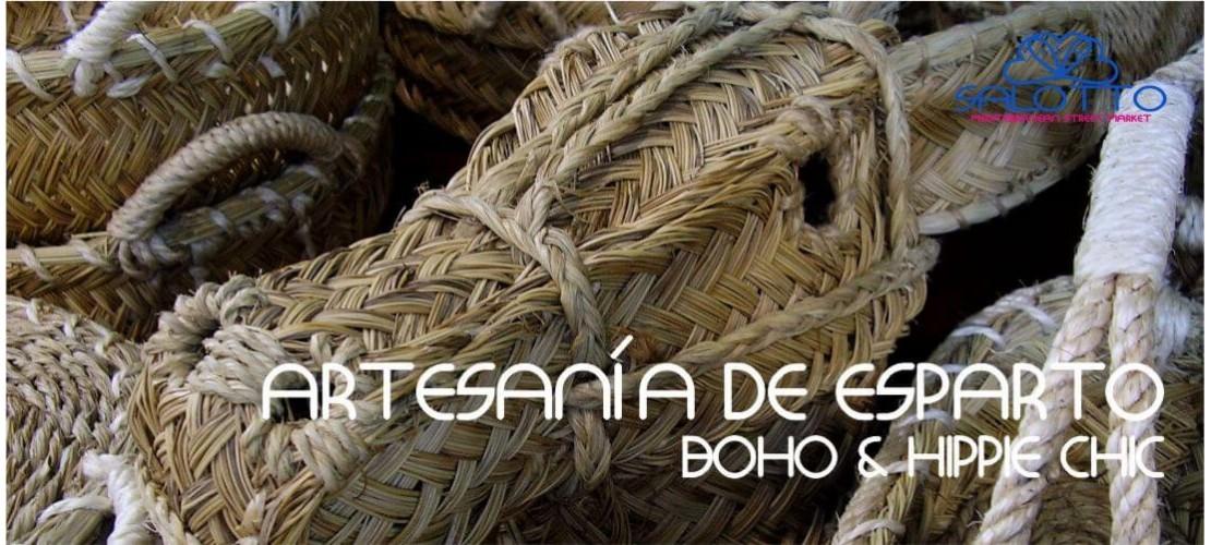 Esparto Grass and Wicker Craft Boho Chic
